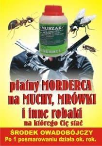 Muszak Ulotka 1 str.ost.wersja trutka na muchy mrówki karaluchy