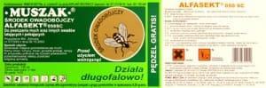muszak etykieta Muszak trucizna na owady latające i pełzające głw. na muchy Muszak preparat środek trutka trucizna na muchy mrówki faraona i czarne karaluchy osy i inne owady owadobójczy owadobójcza substancja toksyczna tel. 601195440 Piła